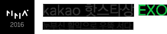 MMA2016 kakao 핫스타상 EXO 눈부신 활약으로 우뚝 서다.