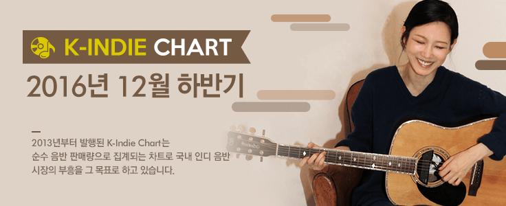 K-INDIE CHART: 2016년 12월 하반기 [케이인디차트]